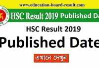 hsc result 2019 published date
