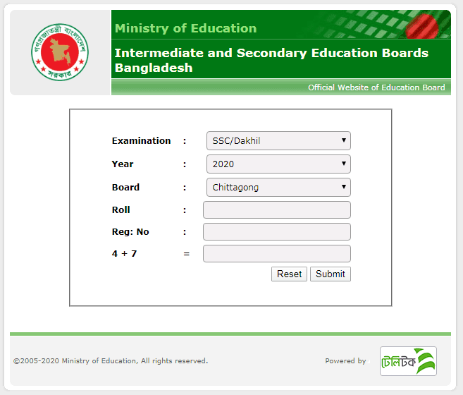 ssc result 2020 chittagong board education